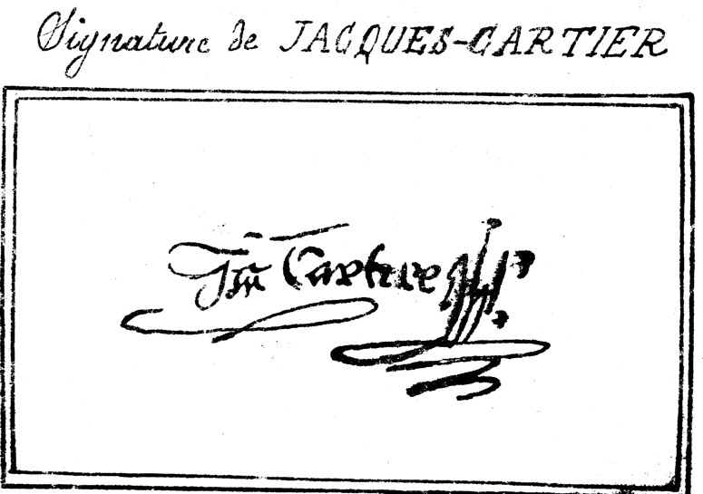 Signature de Jacques Cartier